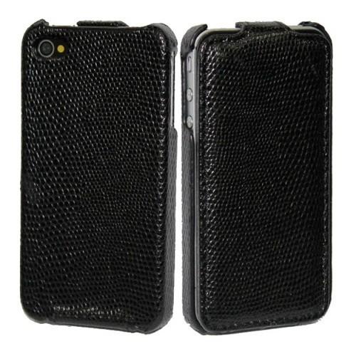 Flip Tasche für Apple iPhone 4 & 4S Schwarz