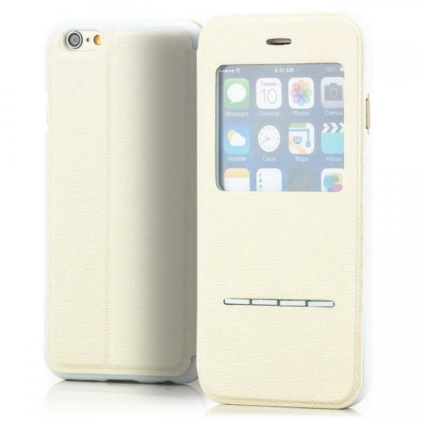 Cross Flip View Case für Apple iPhone 6 & 6S (4,7) Creme -MF-