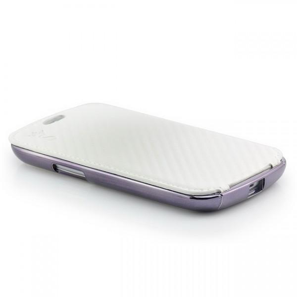 3 in 1 Carbon-Look Case für Samsung Galaxy S3 Weiß