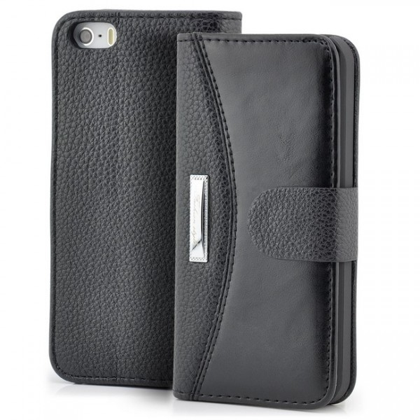 Business Handytasche für Apple iPhone 5 & 5S Schwarz