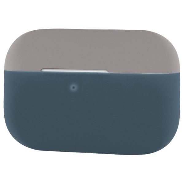 Silikon Case für Apple AirPods Pro - Schutzhülle Schale Hülle - Grau-Dunkelblau
