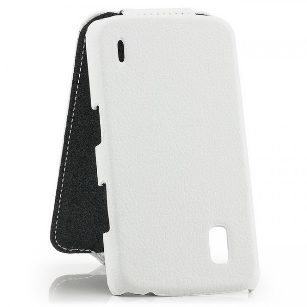 Slim Flip Case für LG Google Nexus 4 Weiß