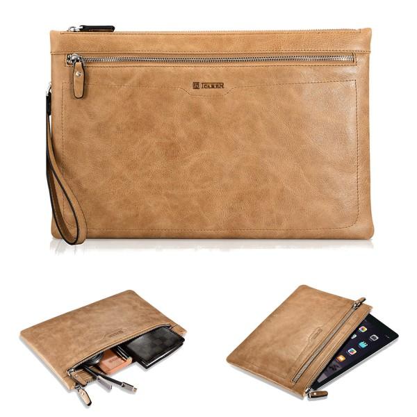 iCareR Shenzhou Real Leather Zipper Sleeve - Größe L - Braun