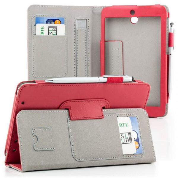 Tablet Tasche für Asus MeMO Pad HD 7 ME173X Rot + Stift
