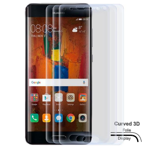 3x Curved Displayschutzfolie für Huawei Mate 9 Pro - Klar