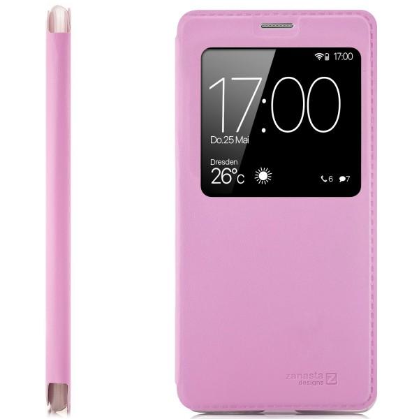 Kunstleder View Case für Huawei P20 - Rosa