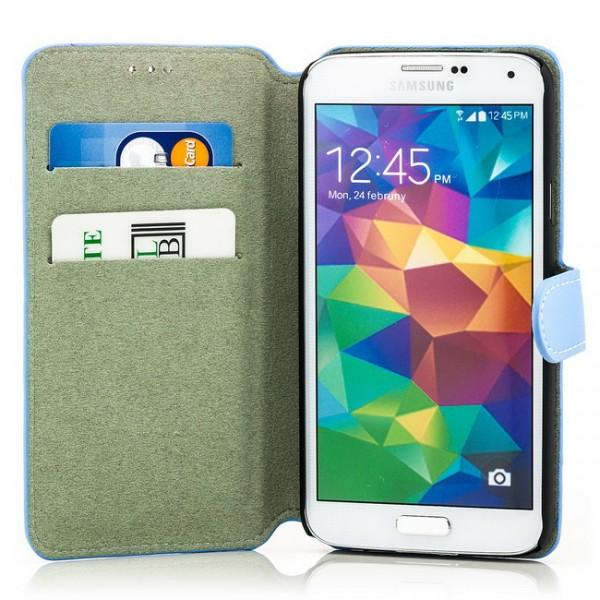 Slim Business Tasche für Samsung Galaxy S5 Blau