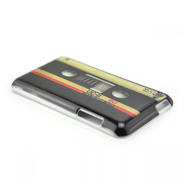Kassetten Hard Case für Apple iPod Touch 4. Gen. Schwarz