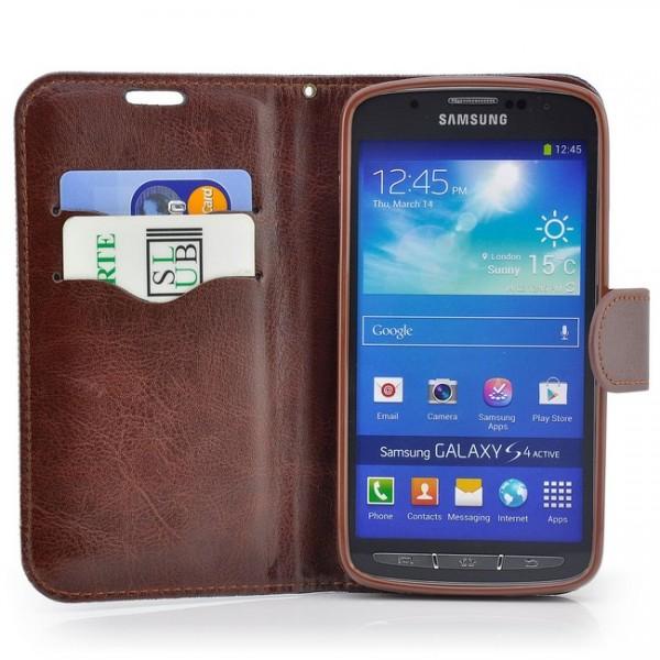 Jeans Style Tasche für Samsung Galaxy S4 Active Dunkelblau
