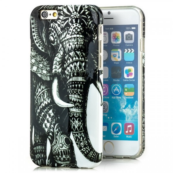 Elefant Silikon Cover für Apple iPhone 6 (4,7)