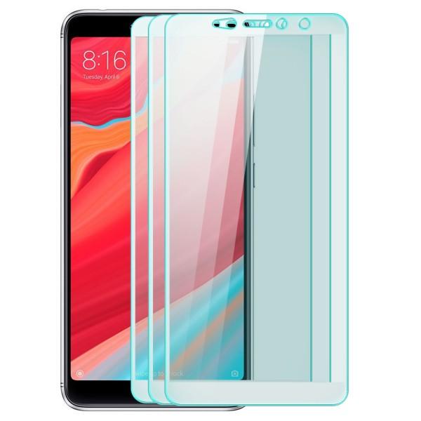 3x Full Cover Displayschutzglas für Xiaomi Redmi S2 - Weiß