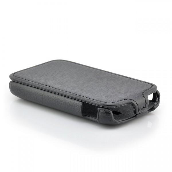 Slim Flip Case für Samsung Galaxy Y Schwarz