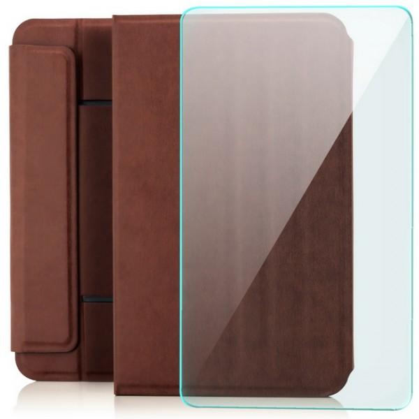 """Saugnapf Tablettasche 10"""" Braun für Samsung Galaxy Tab A 9.7 + GLAS"""