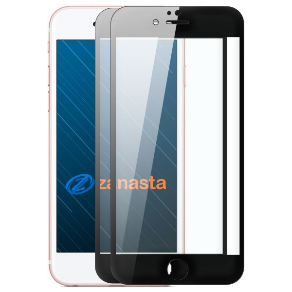 """2x 6D Displayschutzglas für Apple iPhone 6 / 6S Plus (5,5"""") - Schwarz"""
