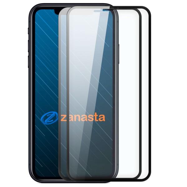 """2x 6D Displayschutzglas für Apple iPhone XR (6,1"""") - Schwarz"""