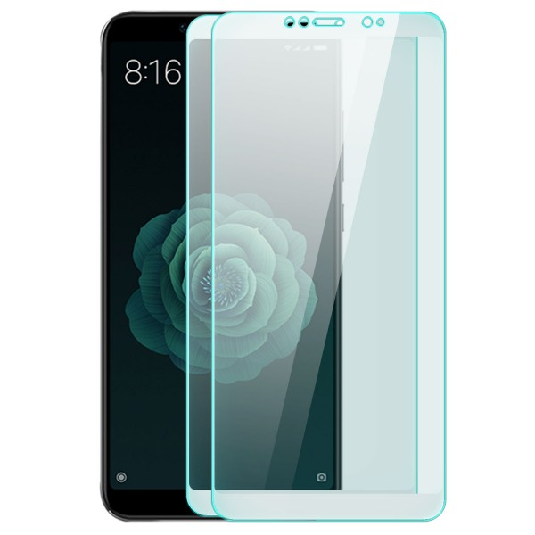 2x Full Cover Displayschutzglas für Xiaomi Mi 6X - Weiß