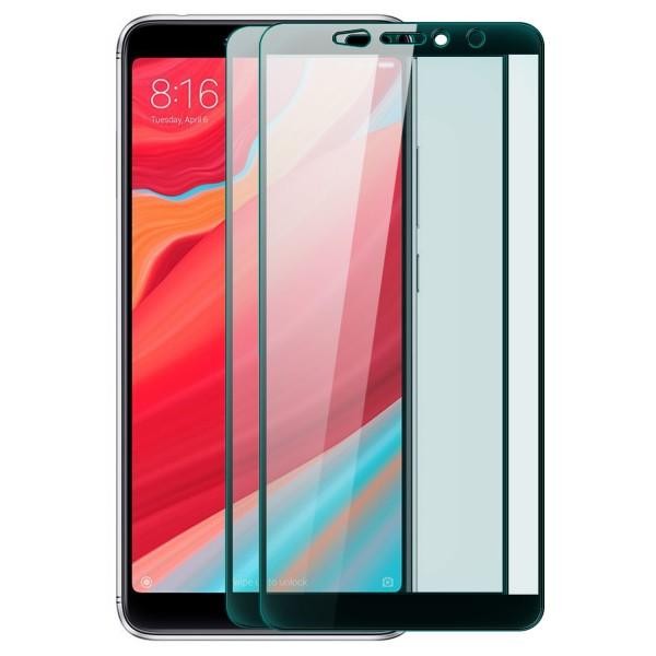 2x Full Cover Displayschutzglas für Xiaomi Redmi S2 - Schwarz
