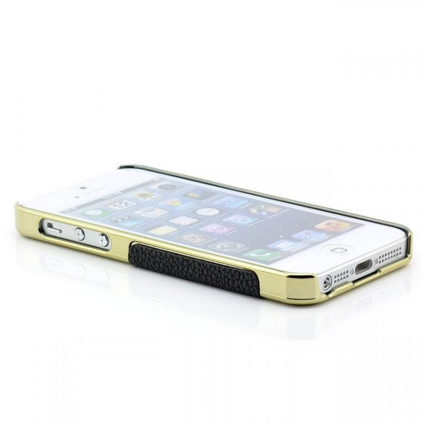 Skin-Style Back Cover für iPhone 5 & 5 S Schwarz-Gold