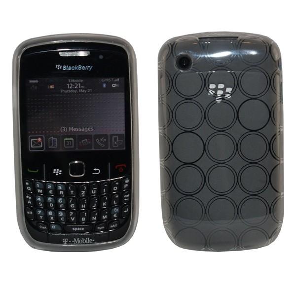 Silikon Case für Blackberry 8520 Kreise-Transparent