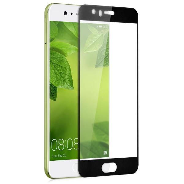 Full Cover Displayschutzglas für Huawei P10 Plus - Schwarz