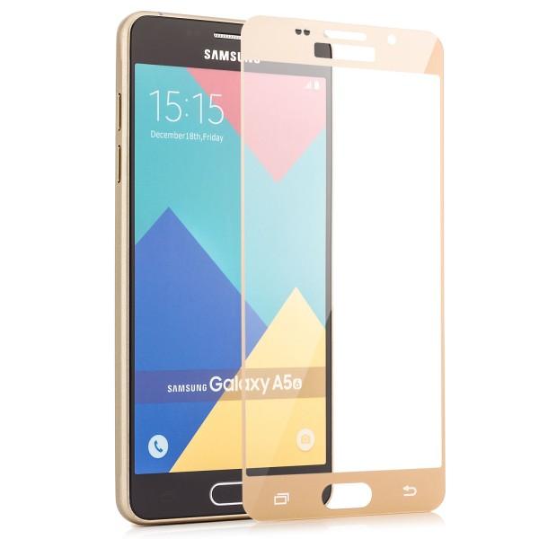 Full Displayschutzglas für Samsung Galaxy A5 (2016) - Gold