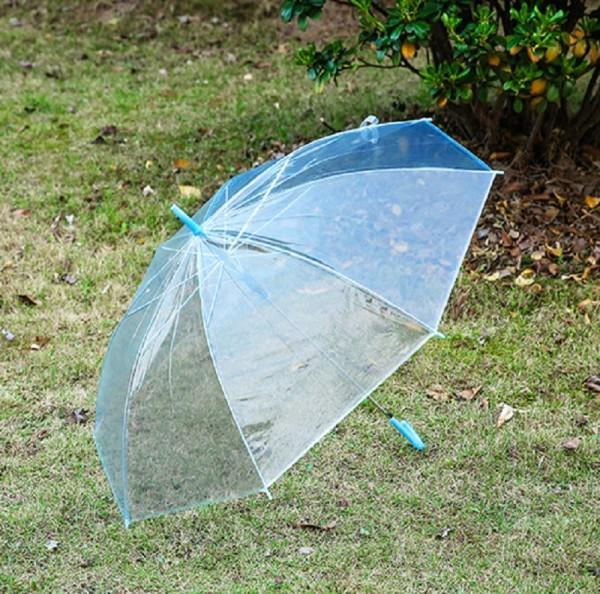Design Regenschirm - Transparent-Blau