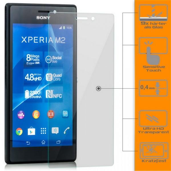 Displayschutzglas für Sony Xperia M2