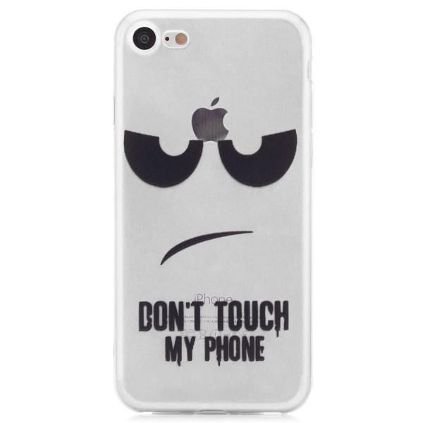 "Silikon Motiv Case für Apple iPhone 8 / 7 (4,7"") - Dont Touch my Phone"