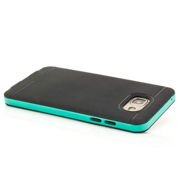 AR-Silikon Back Cover für Samsung Galaxy A5 (2016) - Schwarz-Grün