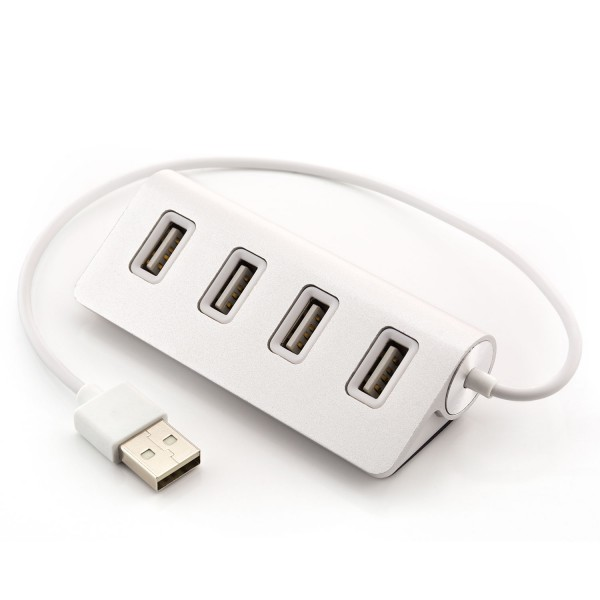 USB 4-fach Hub - Silber