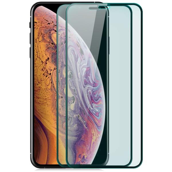 """2x Displayschutzglas für Apple iPhone XS (5,8"""") - Schwarz"""
