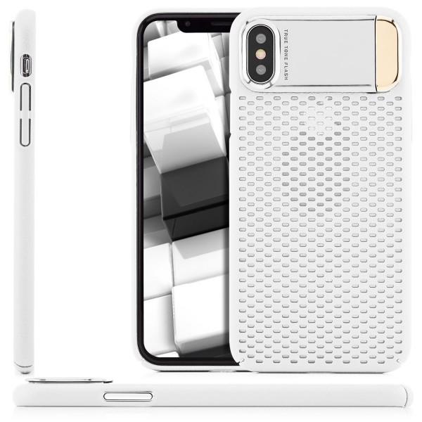 Anti-Heat Back Cover mit Ständer für Apple iPhone X - Weiß