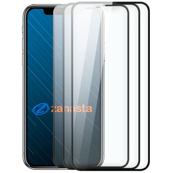 """3x 10D Displayschutzglas für Apple iPhone X / XS (5,8"""") - Schwarz"""