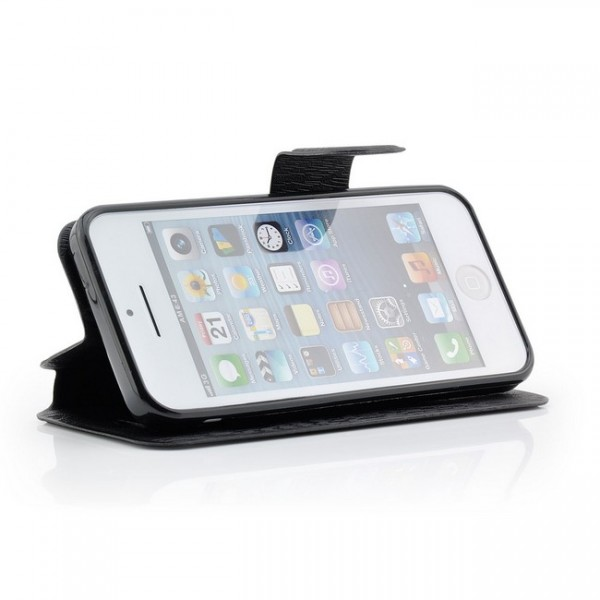 C-Style Flip Tasche für Apple iPhone 5C Schwarz