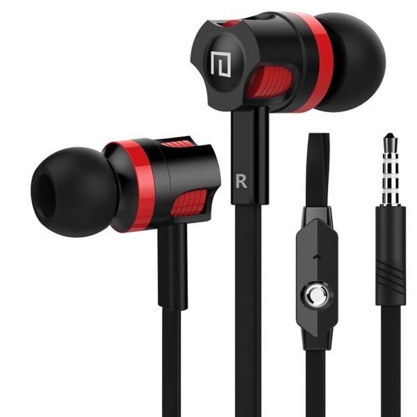 JM26 In-Ear Fashion Design Earphone Headset - Rot-Schwarz