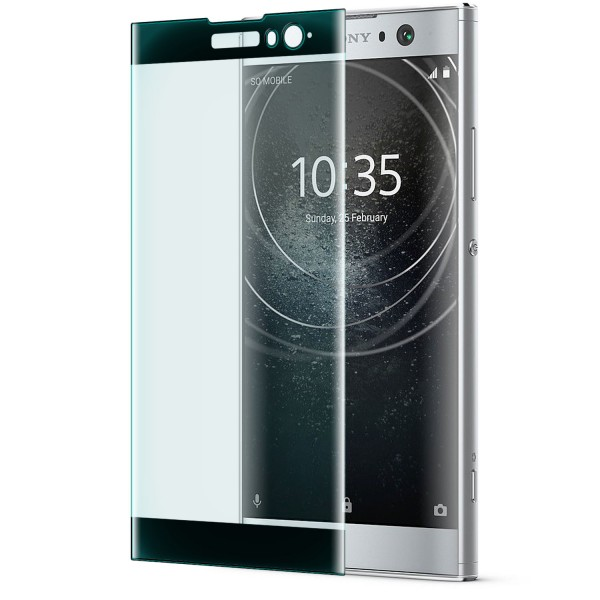 Curved Displayschutzglas für Sony Xperia XA2 - Schwarz