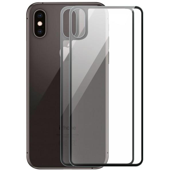 """2x Full Cover Rückseitenglas für Apple iPhone XS Max (6,5"""") - Schwarz"""