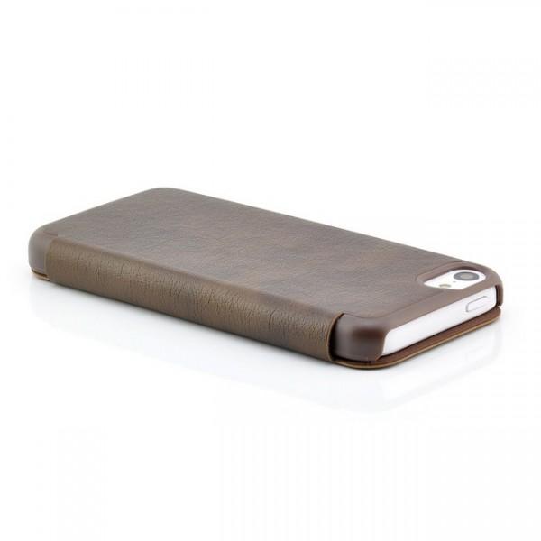 Business View Case für Apple iPhone 5C Braun