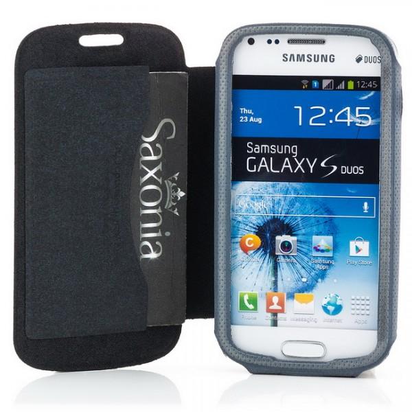 Slim Flip Hülle für Samsung Galaxy S Duos Schwarz