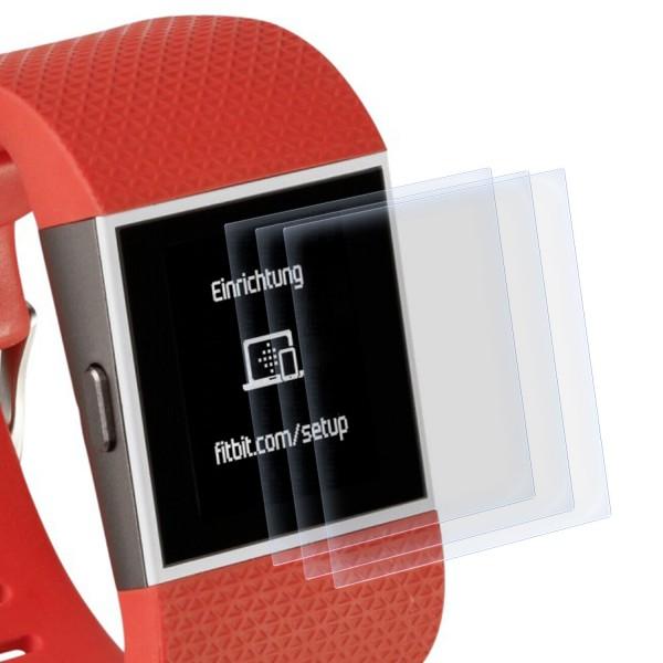 3x Displayschutzfolie für Fitbit Surge