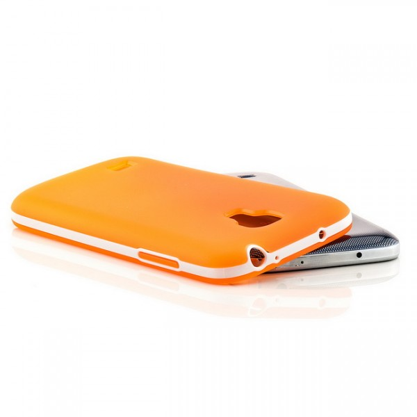 Silikon Back Cover für Samsung Galaxy S4 Mini Orange