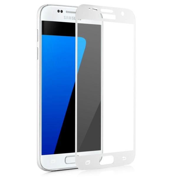 Full Displayschutzglas für Samsung Galaxy S7 - Weiss