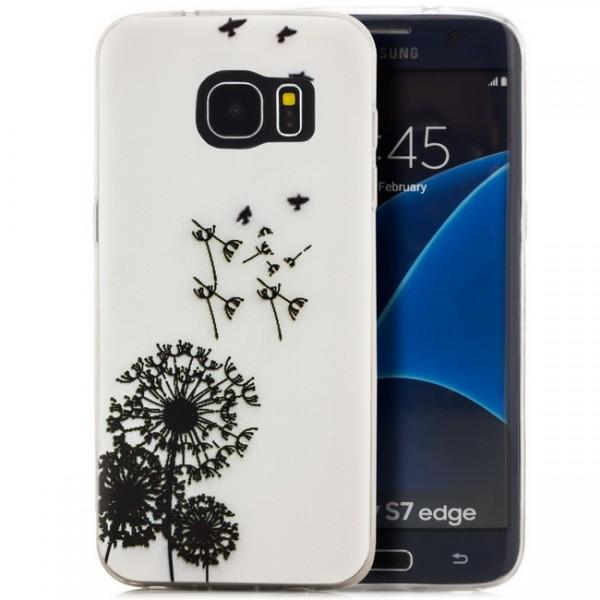Silikon Motiv Case 2 für Samsung Galaxy S7 edge - Pusteblume