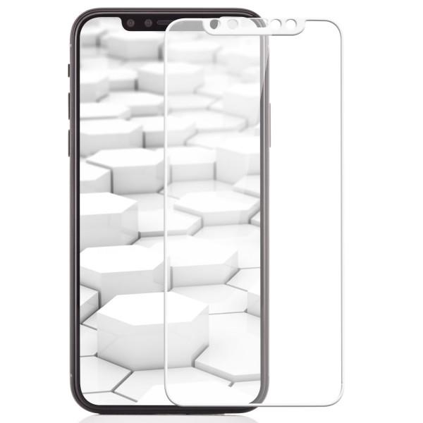 Curved 3D Displayschutzglas für Apple iPhone X - Weiß
