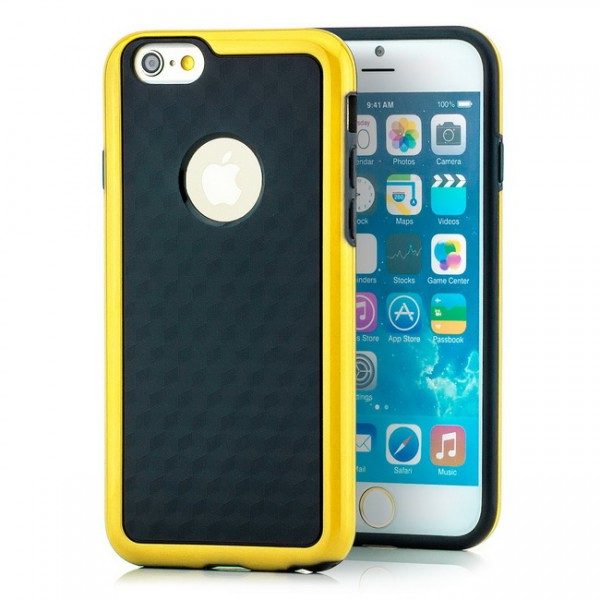 "Cubes TPU Back Cover für Apple iPhone 6 4,7"" Gelb"