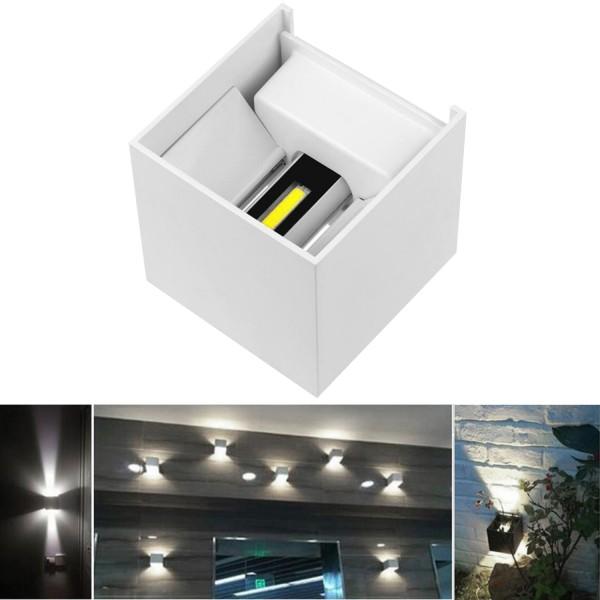 LED Außenlicht Würfel - Schwarz