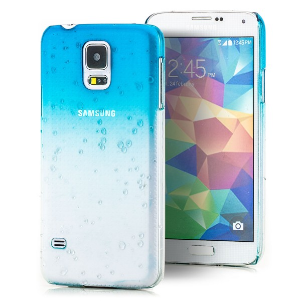 Regentropfen Hard Case für Samsung Galaxy S5 Türkis