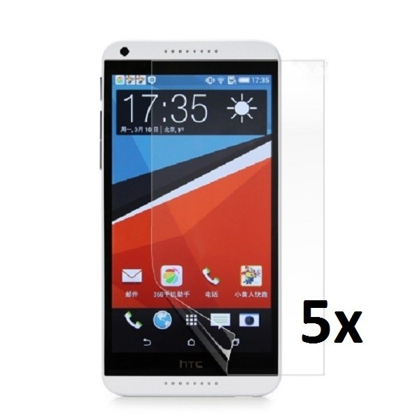 5x Displayschutzfolie für HTC Desire 816 Matt