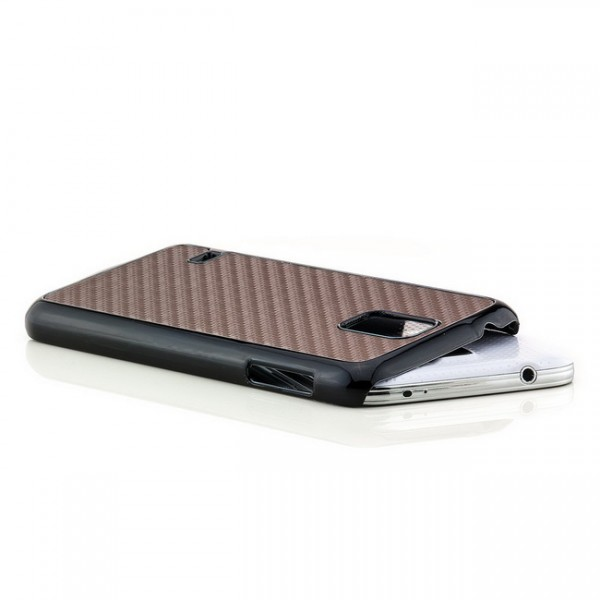 Carbon Back Cover für Samsung Galaxy S5 Braun