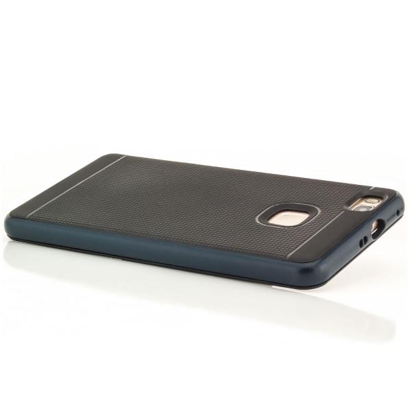 AR-Silikon Schutzhülle für Huawei P9 Lite - Schwarz-Dunkelblau